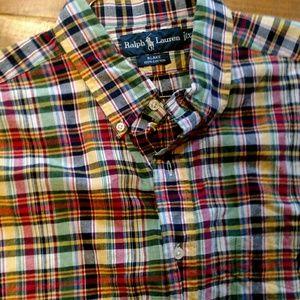 Ralph Lauren xl short sleeve button down shirt.